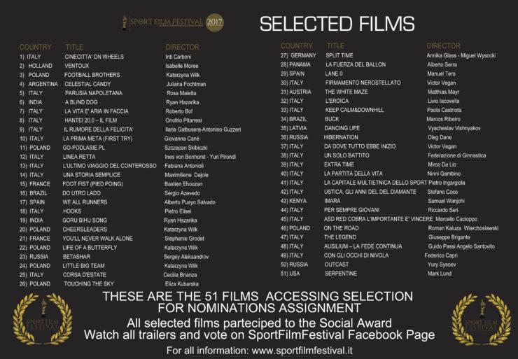 SELECTED FILMS 2017